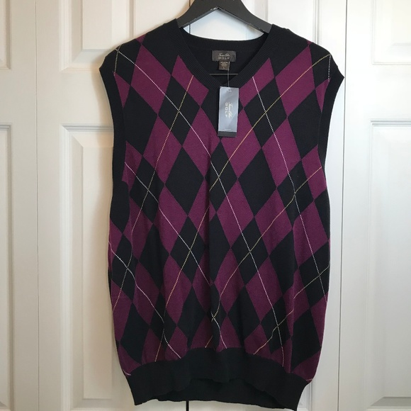 43b115b22 Tasso Elba Shirts   Mens Argyle Golf Sweater Vest Nwt Sz L   Poshmark